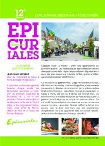Les Epicuriales 2016