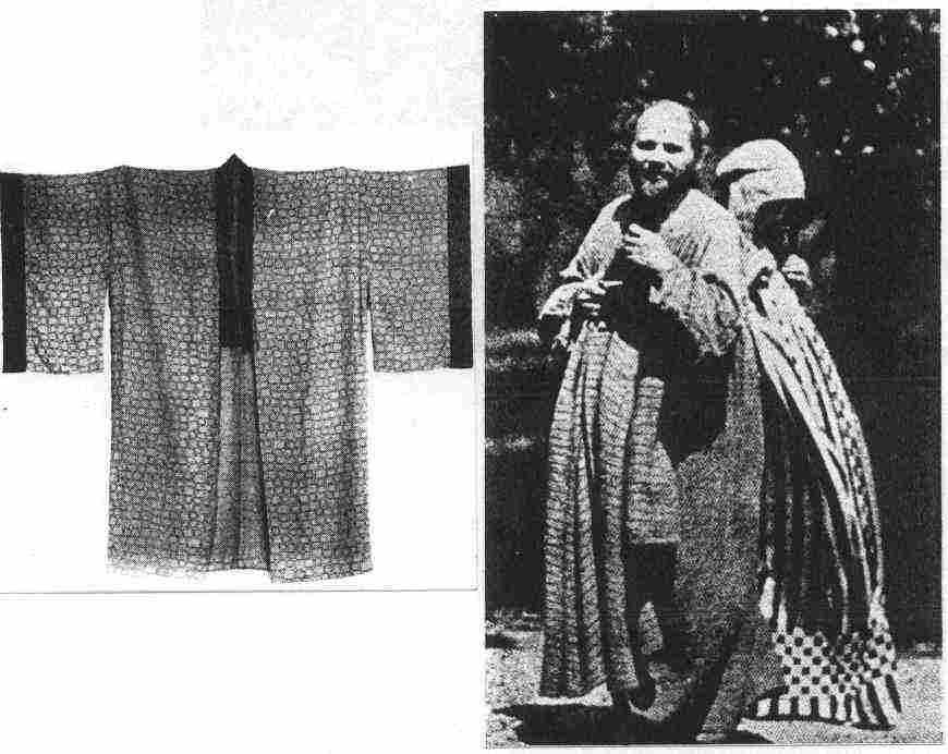 Gustav Klimt en kimono traditionnel