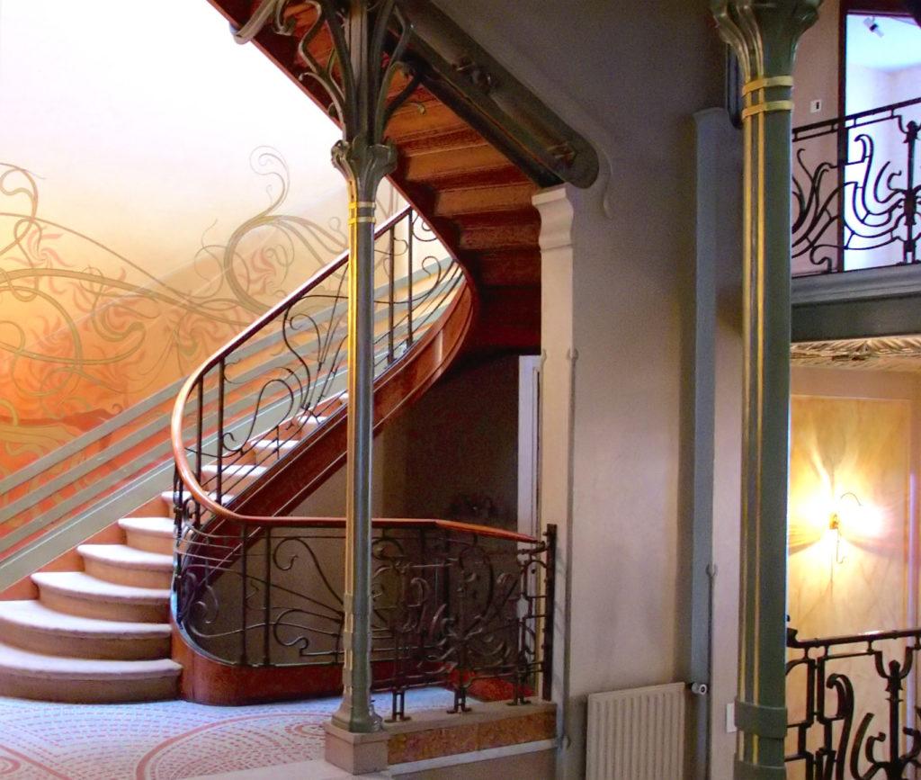 Victor Horta, escalier de l'Hotel Tassel, 1882 – 1883, Bruxelles